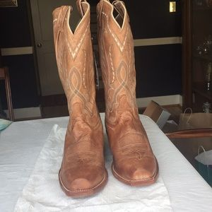Tony Lama 10 1/2 EE brown leather cowboy boots